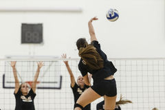 CLU Women's College Volleyball practice session stock images