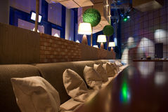 In the club. Interior of modern night club or restaurant Stock Photography
