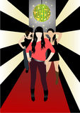 In the club. Illustration of teenagers in the club; girl's night Royalty Free Stock Images