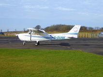 Club aircraft at private airfield Royalty Free Stock Photos