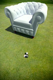 Club armchair in a golf green Royalty Free Stock Photography
