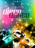 Club background for disco dance international event Royalty Free Stock Image