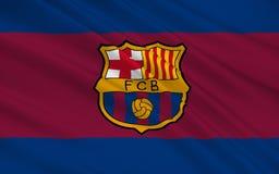 Club Barcelone, Espagne du football de drapeau illustration libre de droits