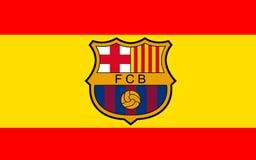 Club Barcelone, Espagne du football de drapeau illustration de vecteur
