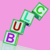 Club Blocks Show Organization Association Royalty Free Stock Photography