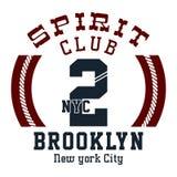 Club Brooklyn del alcohol del diseño stock de ilustración