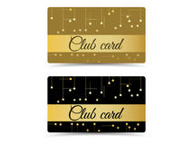 Club card. Club vip card. Set club cards, gift cards. Royalty Free Stock Photography