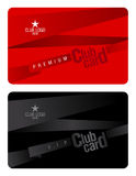 Club card design template. Royalty Free Stock Images
