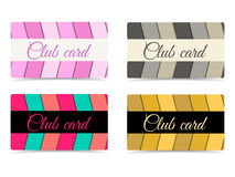 Club card. A set of club cards. Club card with 3d waves. Vector. Stock Images