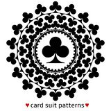 Club card suit pattern vector illustration