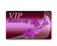 Club card for VIP clients Stock Photography