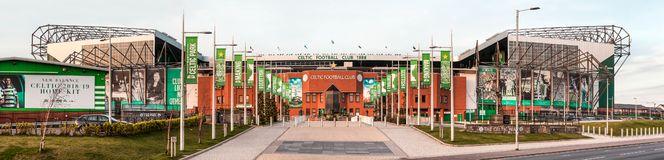 Club celtico di calcio dello stadio di Parkhead a Glasgow fotografie stock