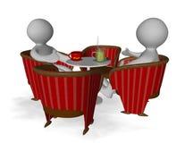 Club chair round Stock Image