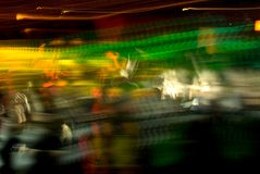 Club Crowd Abstract. Abstract of nightclub crowd in motion stock photography