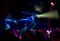 Club Crowd Abstract. Abstract of nightclub crowd in motion royalty free stock photo