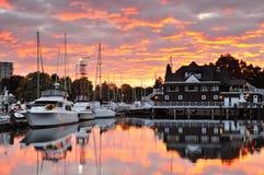 Club d'aviron de Vancouver en stationnement de Stanley Photos stock