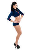 Club dancer women in sailor uniform Royalty Free Stock Photography