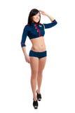 Club dancer women in sailor uniform Stock Image