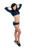Club dancer women in sailor uniform Royalty Free Stock Images