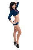 Club dancer women in sailor uniform Royalty Free Stock Photos