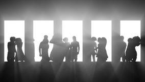 Club dansende silhouetten royalty-vrije illustratie