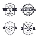 Club de base-ball, logo de vintage d'équipe, insignes Photographie stock libre de droits
