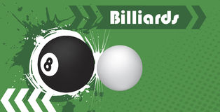 Club de billard Photos stock
