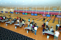 Club de bowling Images libres de droits