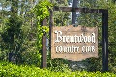 Club de campo de Brentwood en Los Ángeles - LOS ÁNGELES - CALIFORNIA - 20 de abril de 2017 Imágenes de archivo libres de regalías