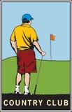 Club de campo del golf   stock de ilustración