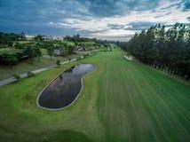 Club de campo verde del golf Fotografía de archivo libre de regalías