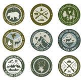 Club de chasse, pêche et logo d'illustrations Photos libres de droits