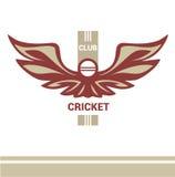 Club de cricket de calibre de logo de vecteur Photos stock