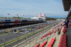 Club de deportes de GT en el circuito de Barcelona, Cataluña, España Imágenes de archivo libres de regalías