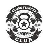 Club de fitness cruzado libre illustration