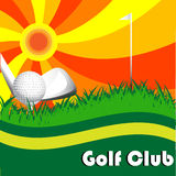 Club de golf Imágenes de archivo libres de regalías