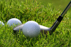 Club de golf avec des billes Image stock