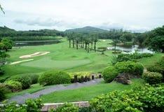 Club de golf azul del barranco Phuket tailandia Foto de archivo libre de regalías