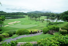Club de golf bleu de canyon Phuket thailand photo libre de droits