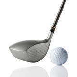 Club de golf con la bola imágenes de archivo libres de regalías