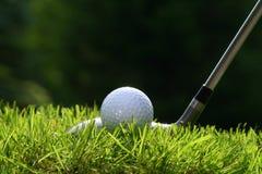 Club de golf con la bola fotos de archivo