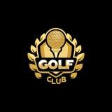 Club de golf de oro stock de ilustración