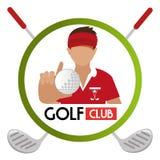 Club de golf del deporte Fotos de archivo libres de regalías