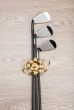 Club de golf del regalo de la Navidad Foto de archivo libre de regalías