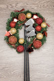 Club de golf del regalo de la Navidad Imágenes de archivo libres de regalías