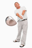 Club de golf que es utilizado Imágenes de archivo libres de regalías