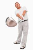 Club de golf étant utilisé Images libres de droits