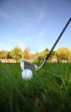 Club de golf y bola Imagen de archivo