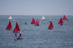 Club de la navegación de la bahía de Trearddur Fotografía de archivo