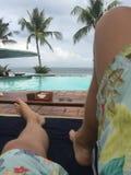 Club de la playa en Bali Fotografía de archivo libre de regalías